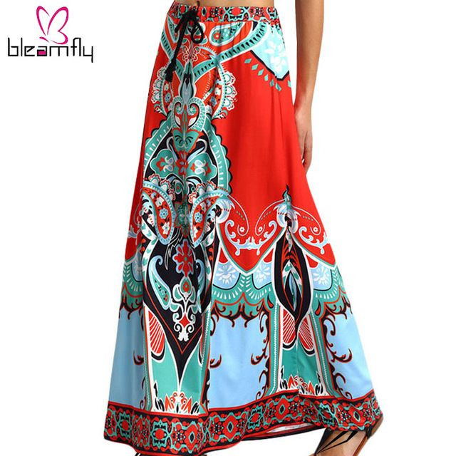 Special offer Dashiki Skirt African Print Clothing 2016 Boho Summer Beach Maxi Skirts Vintage Flare high waist Tribal Print jupe longue femme just only $12.23 with free shipping worldwide  #womanskirts Plese click on picture to see our special price for you