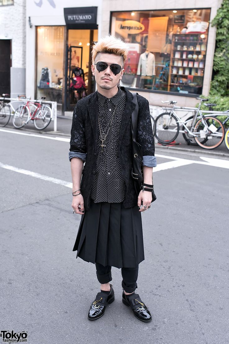 Norimi, the founder of the Japanese silver brand Alice Black, on the street in Harajuku.