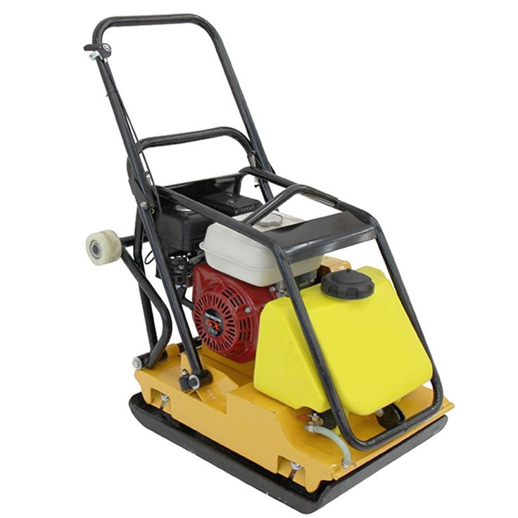 Vibratory Plate Compactor 220 lbs with Honda Engine 5.5 HP. Dimensions W x L x H (in) : 16 x 37 x 36 Engine Make / Model : Honda GX160 Engine Power (HP) : 5.5 HP Engine Type : Air-cooled Single-cylinder Four-cycle Engine RPM : 3600 Start Method : Recoil. Fuel : Gasoline Fuel consumption US gal/h : 0.5 Fuel Capacity (qt) : 3.3. Centrifugal force (lbf) : 2471 Operating Travel Speed (ft/min) depending on soil & environmental factors : 98 Surface Capacity Compaction (ft²/h) depending on soil…