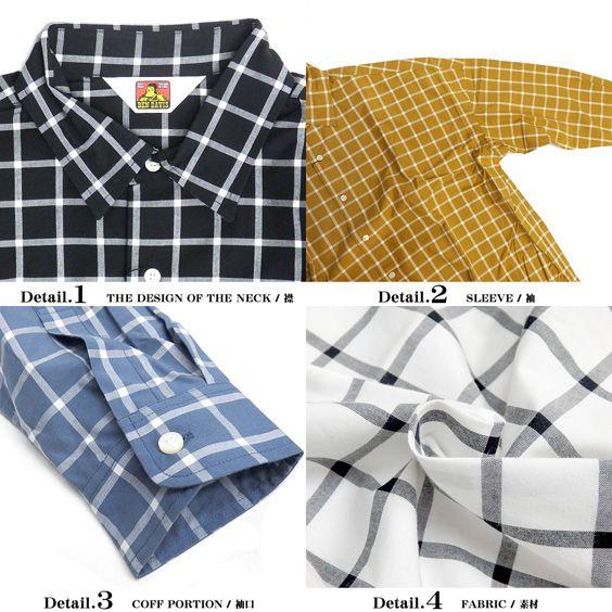 renovatio | Rakuten Global Market: A cool BEN DAVIS PROJECT LINE Ben Davis shirt lattice shirts ★ project line Ben Davis on over size l/s shirt every BIG silhouette cotton 100% relaxed shirt BEN-846