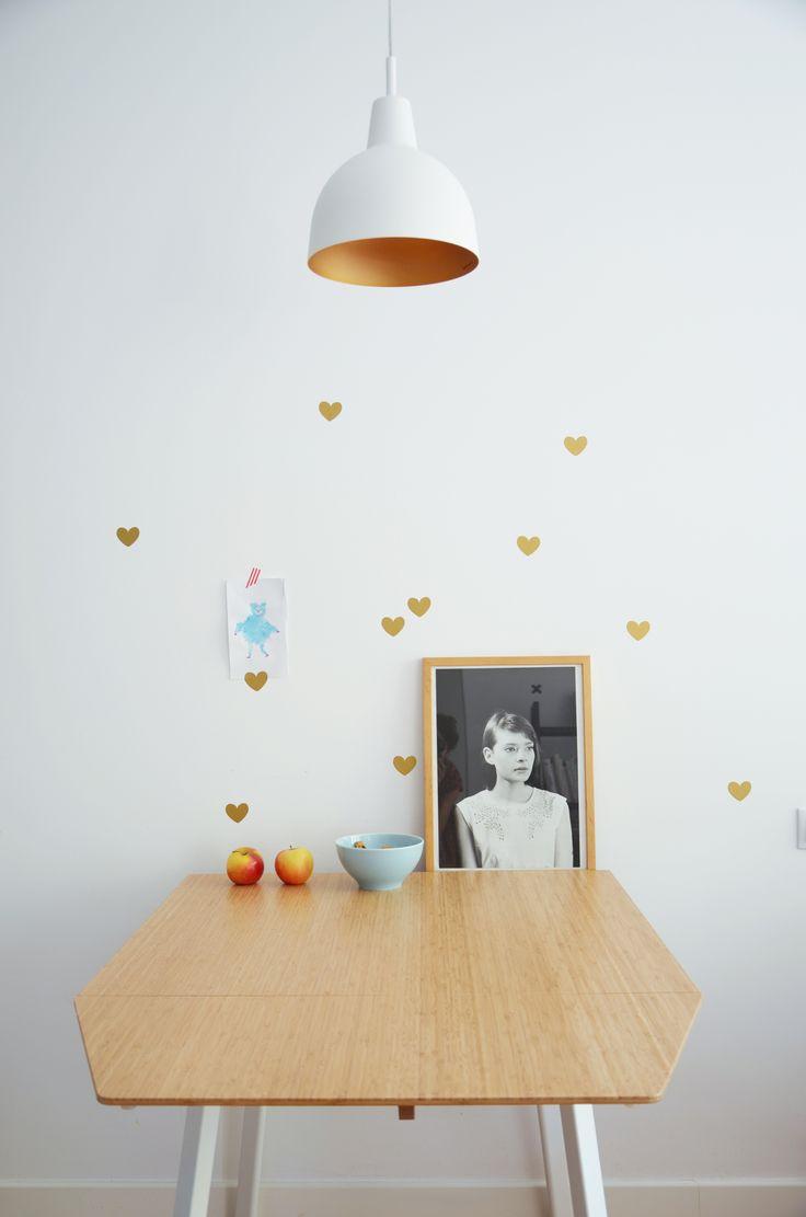 Golden hearts Dekornik.pl
