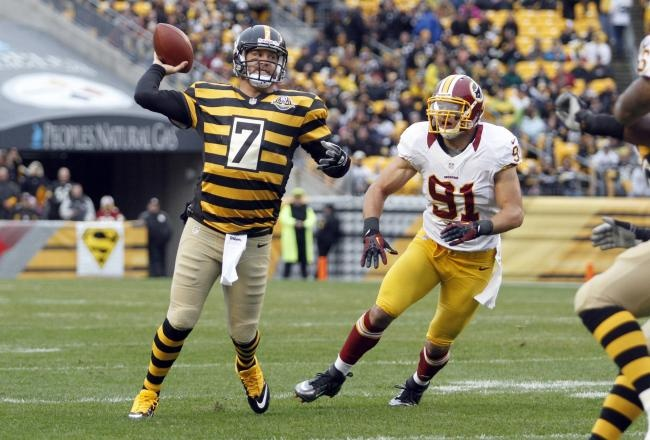Ben Roethlisberger tossed a trio of touchdown passes on Sunday as the Pittsburgh Steelers defeated the Washington Redskins, 27-12, at Heinz Field.