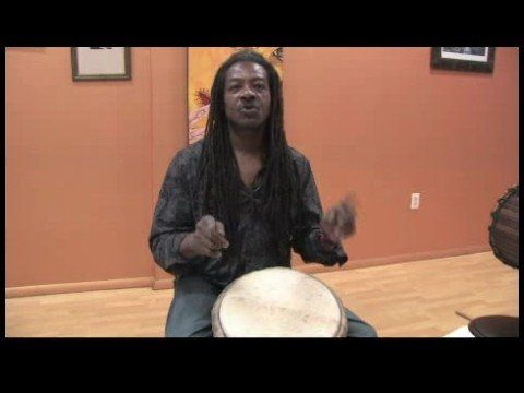 How to Play African Drums : Kuku Rhythm on a Djembe Drum