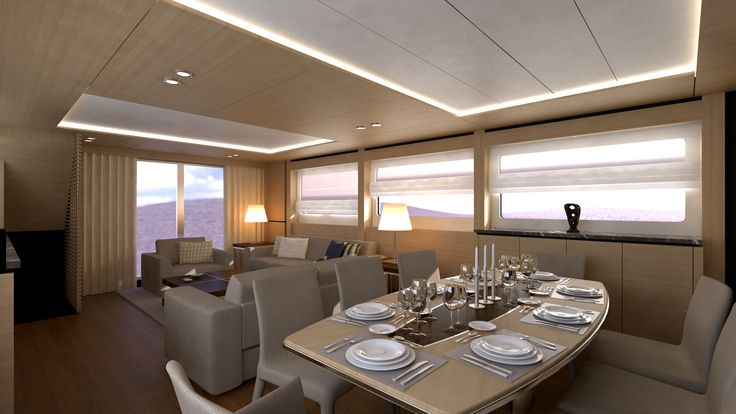 ekinoks interior / yacht design / yacht interior fit out