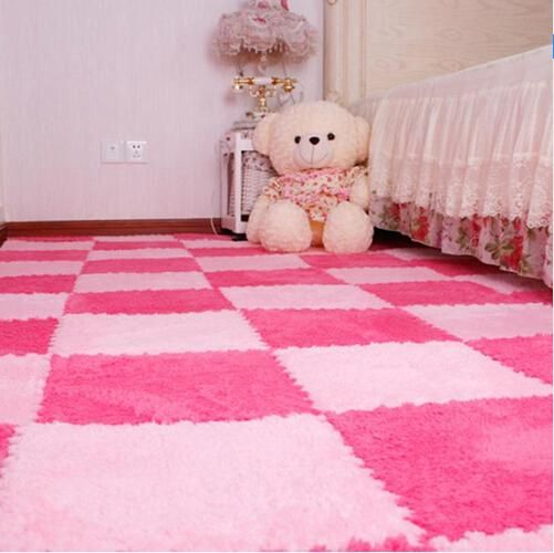 30*30CM Living Room Bedroom Children Kids Soft Patchwork Carpet Magic Jigsaw Splice Puzzle Climbing Baby Mat Play Game Floor Rug