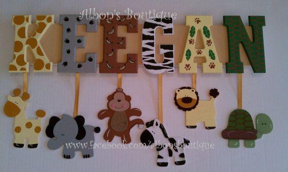 4 Letter Name Custom Jungle Safari Zoo Animal By
