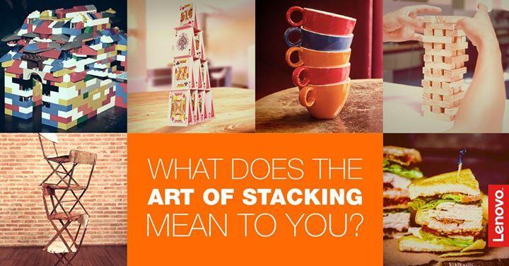 Impilare oggetti è un'arte! Sassi, biscotti, ceppi di legno, tu cosa impili? #Lenovo #Stacking