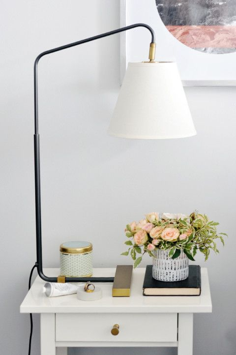 lark linens bedside table with our flynn table lamp serenaandlily bedroom nightstand lamps ideas lighting models bedside