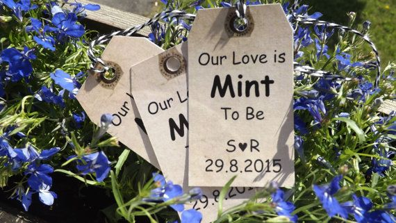 Check out this item in my Etsy shop https://www.etsy.com/ca/listing/233820631/mint-to-be-tags-mint-to-be-wedding-favor