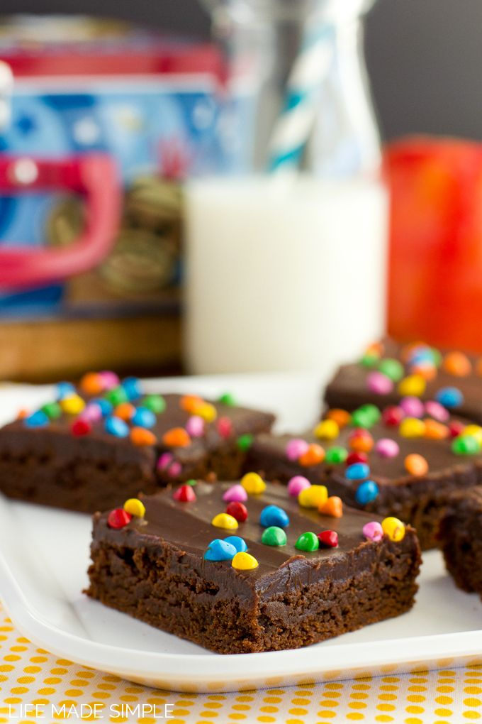 I think my boys would LOVE these! I cant buy enough of the tore bought ones!! Homemade Cosmic Brownies