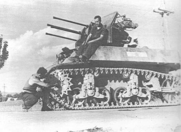 M3A3 (2 cm Flakvierling 38) - some field modification of captured American tank, made by Germans
