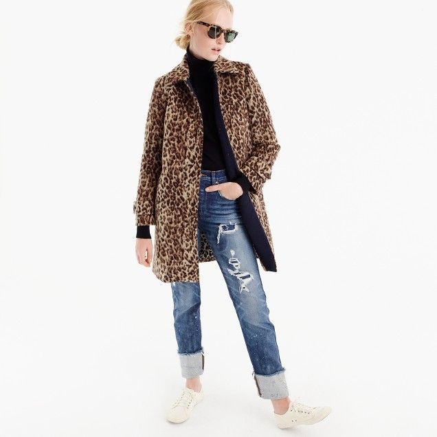 Topcoat in double leopard : Women novelty | J.Crew