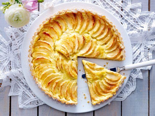 Unser beliebtes Rezept für Apfel-Pudding-Tarte und mehr als 55.000 weitere kostenlose Rezepte auf LECKER.de.