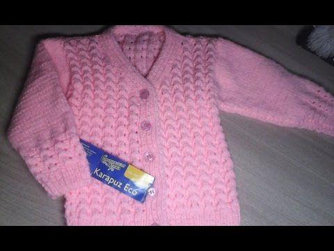 Краткий МК кофты для девочки. Вязание спицами. - YouTube