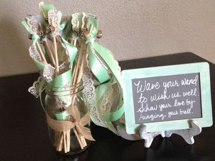 Cute idea for our exit instead of throwing flowers. Also wedding bells is an Irish tradition - Irish eyes are smiling down :)