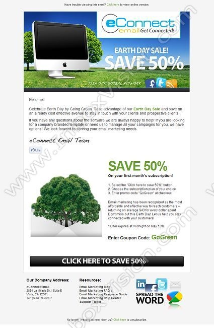 Best Email Design Earth Day Images On   Email Design