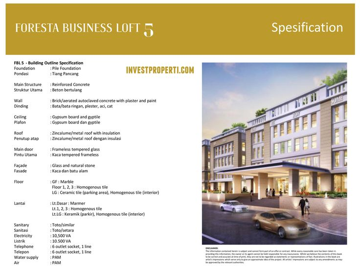 Foresta Business Loft 5 Specification.
