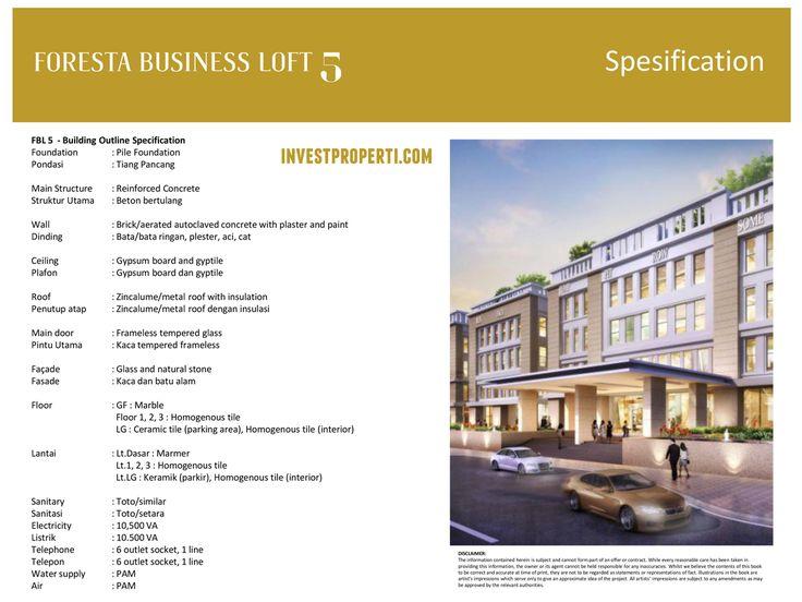 Foresta Business Loft 5 Specification.