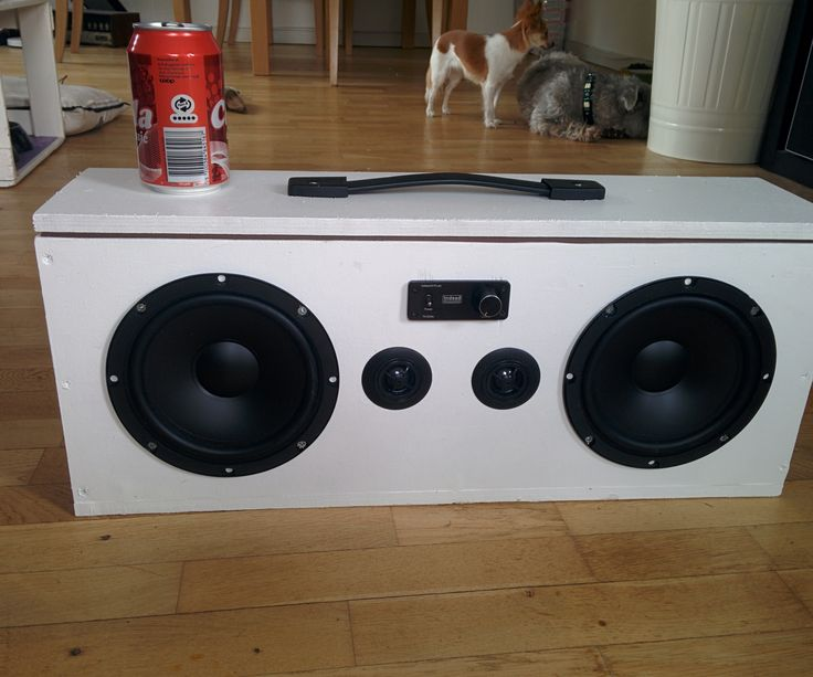 I've wanted to build a small boombox that was lightweight, easy to transport, and has decent sound (both volume and quality). There are MANY different designs out...