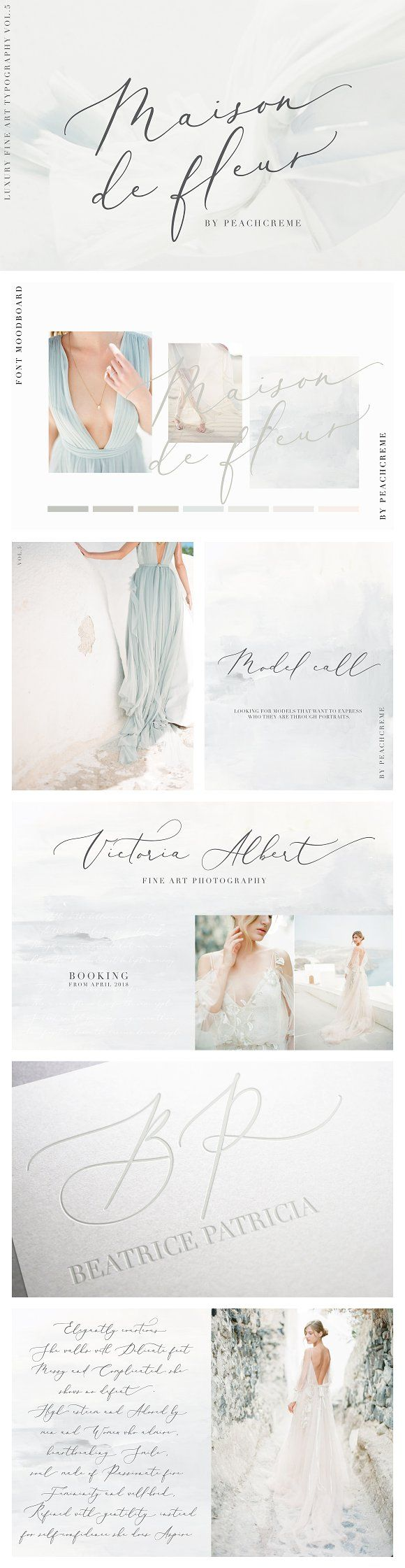Maison de fleur_Luxury Script Font by PeachCreme on @creativemarket