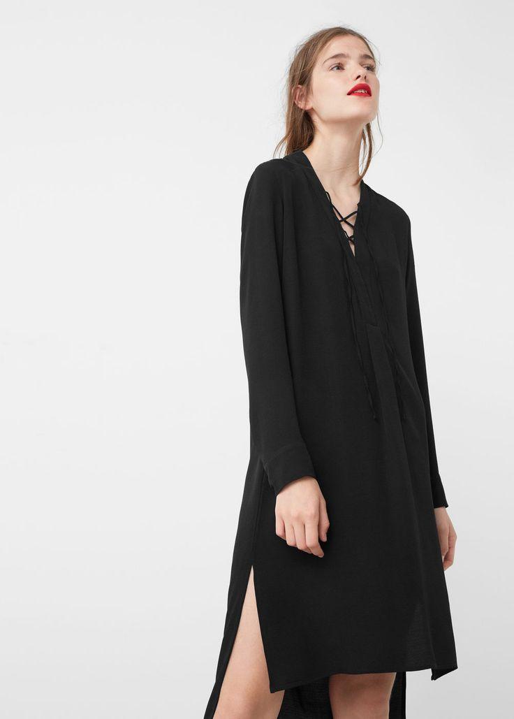 Braided cord dress | MANGO