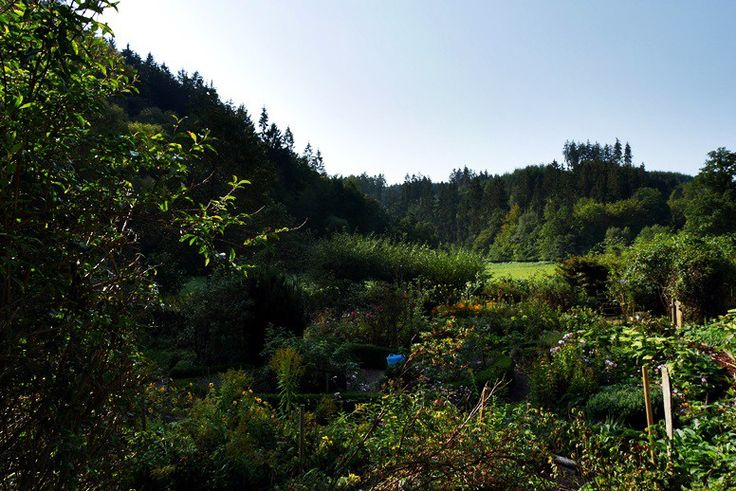 Bauerngarten von einer der Mühlen im Lengeltal am Hugenotten- und Waldenserpfad auf der Wegschleife bei Louisendorf