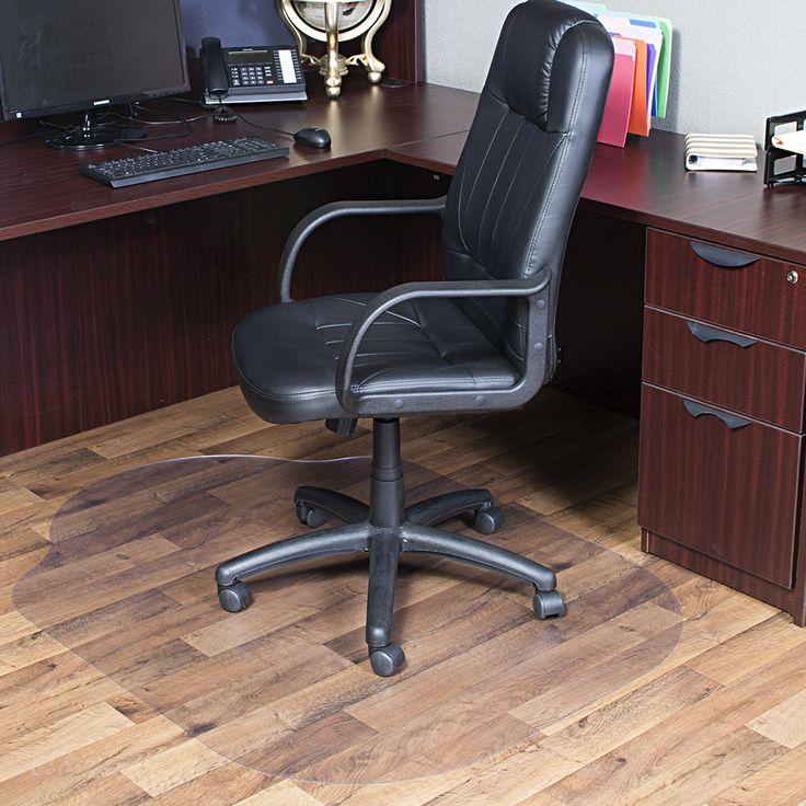 Evolve Modern Office Hard Floor Straight Edge with Lip Chair Mat