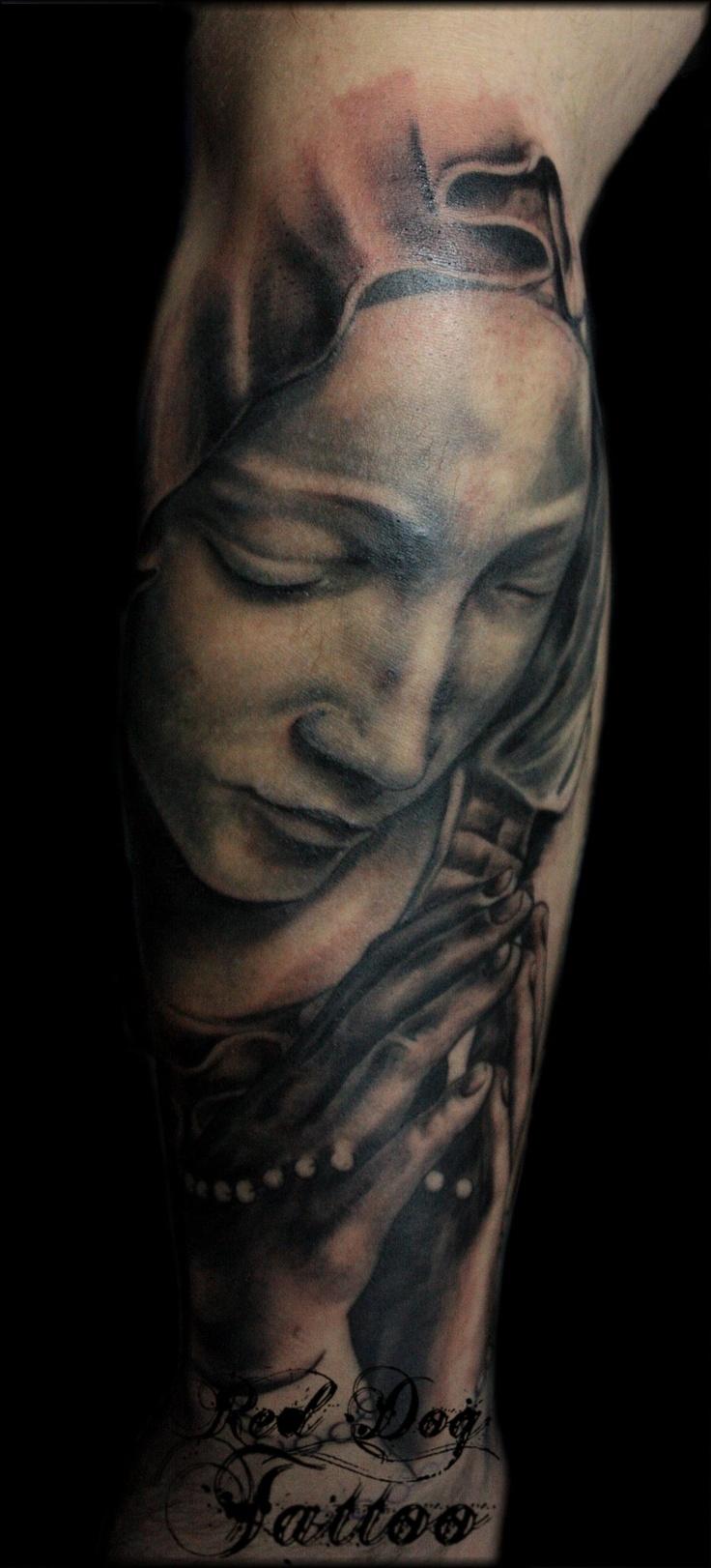 Virgin Mary Sleeve by ~Reddogtattoo on deviantART