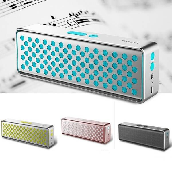 ROCK Deep Bass Hands-free Wireless Bluetooth 4.0 Speaker With NFC and Mic Sale-Banggood.com