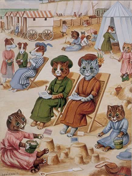 Louis Wain's Crazy Cats.. May be a repeat-I did not get the pssst........message from Pinterest, and I can't remember every Wain cat!  :)