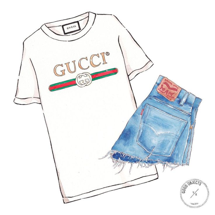 "483 Likes, 6 Comments - Good Objects Illustration (@goodobjects) on Instagram: ""Good objects - Classics... #gucci #levis #goodobjects #watercolor #illustration"""