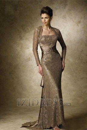 Trumpet/mermaid Strapless Mother Of The Bride Dress - IZIDRESS.com