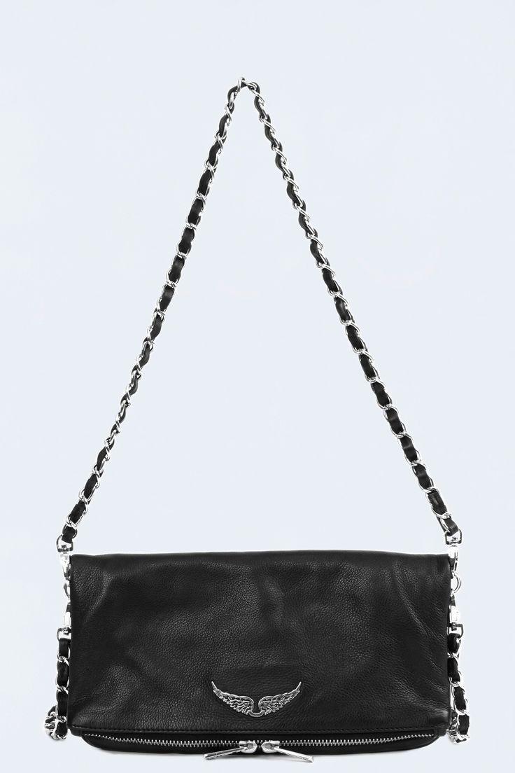 pochette pour femme rock noir Zadig & Voltaire 295€