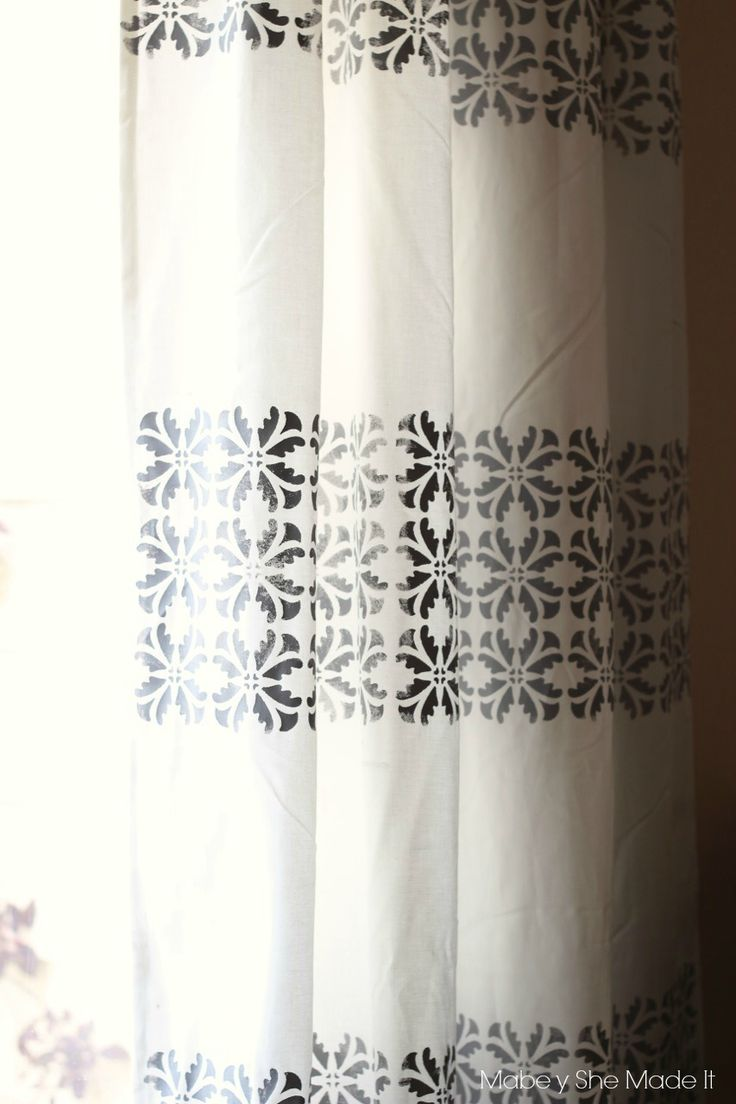 Make your own stunning DIY stenciled curtains using this tutorial and review. Get customized home decor for less!