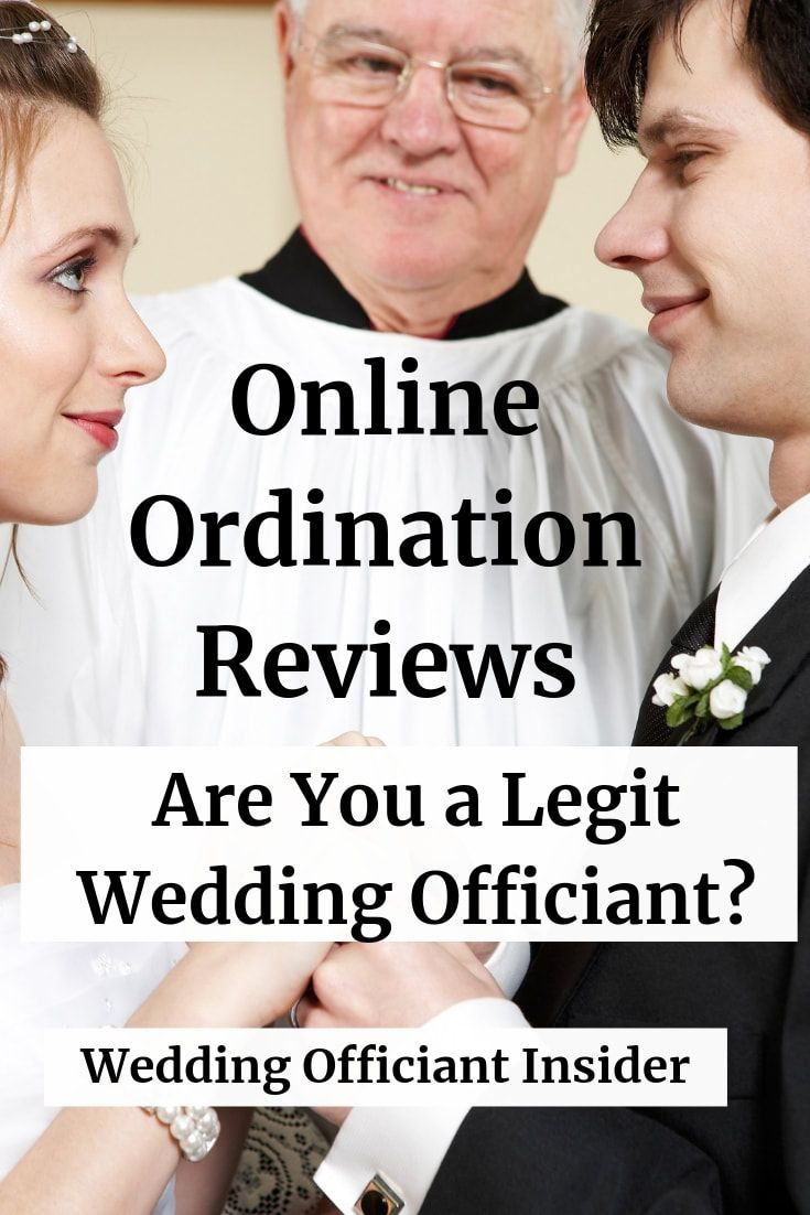 Online Ordination Reviews Are You A Legit Wedding Officiant Wedding Officiant Insider In 2020 Wedding Officiant Wedding Officiant Business Officiants