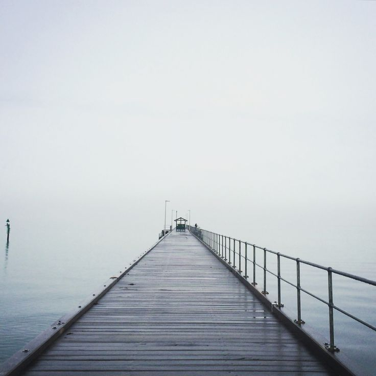 The pier to nowhere. Frost and fog at Mordialloc Pier.
