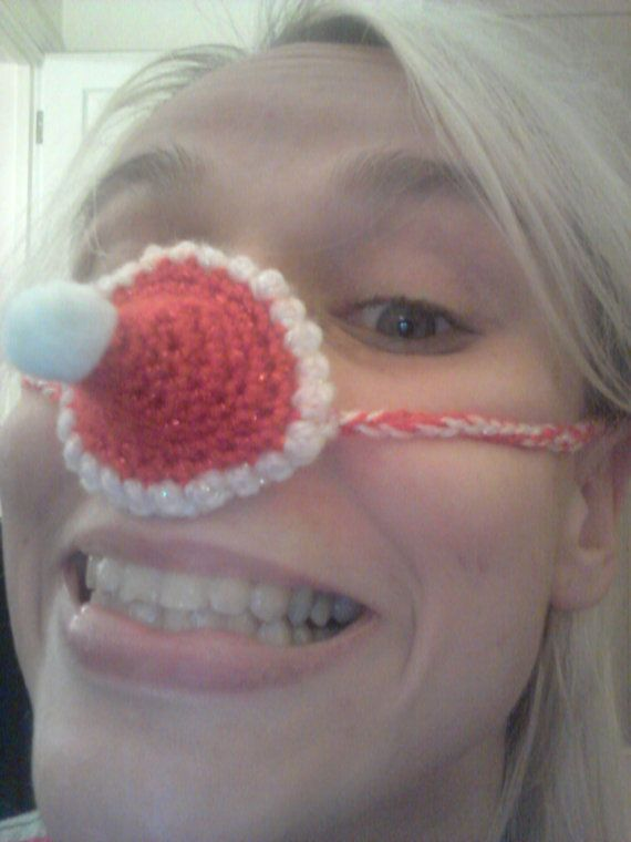 Santa Hat Nose Warmer funky crochet hat for your by ...