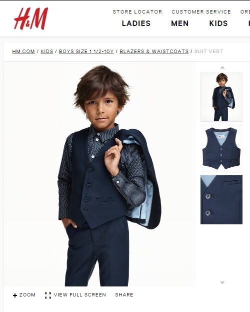 H Amp M Boys Navy 3 Piece Suit Sold Separately Jaime
