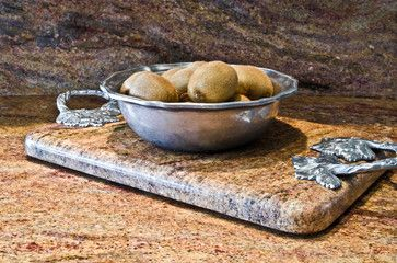 turn the sink cutout piece into a tray or lazy susan; Custom Granite Serving Tray or Hot Plate - contemporary - products - dc metro - Granite Grannies
