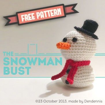 the snowman bust ~ again from Dendennis - love this one too! ~ she has angel, snowman, Santa, reindeer, tree ~ FREE - CROCHET