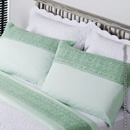 Lace edging diagram, filet work for pillows and blankets