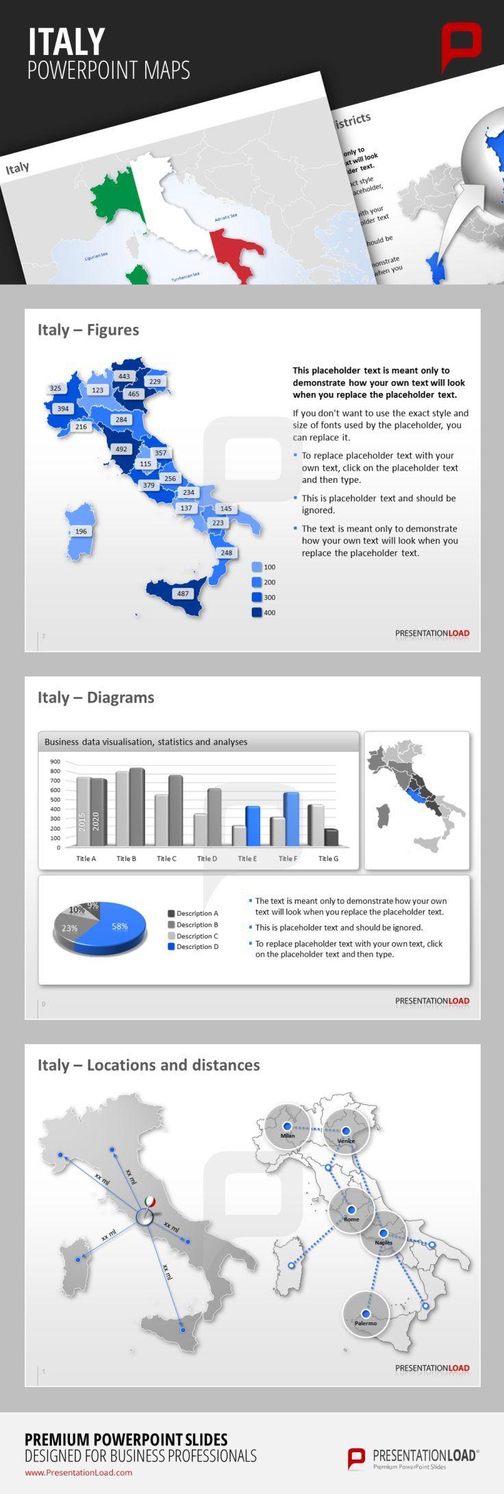 Pin di PresentationLoad su Maps // PowerPoint Templates ...