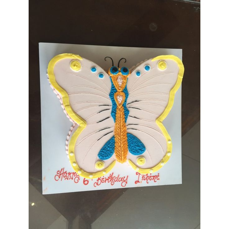Gift this supper yummy butterfly cake for your kids on birthday and make their day sweet & memorable.    www.cake.lk