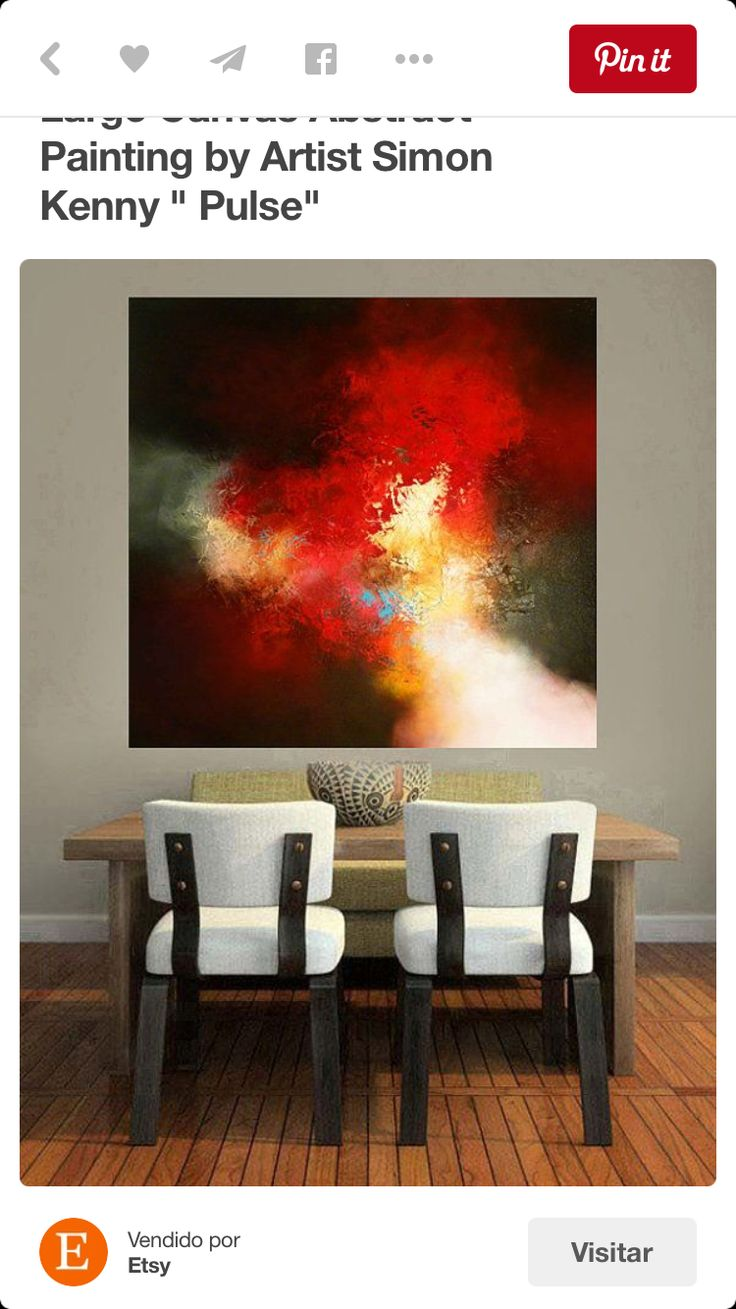 Color art by tec italy - Large Canvas Abstract Painting By Artist Door Simonkennyspaintings