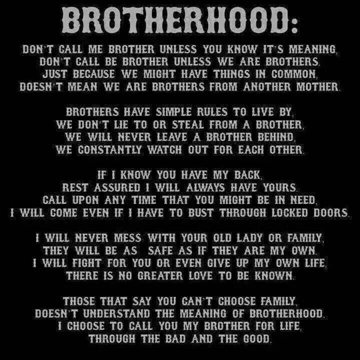 True Meaning Of Brotherhood