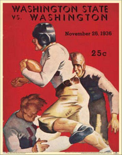 football program covers | Details about Washington Huskies Football 1936 Vintage Program Cover ...