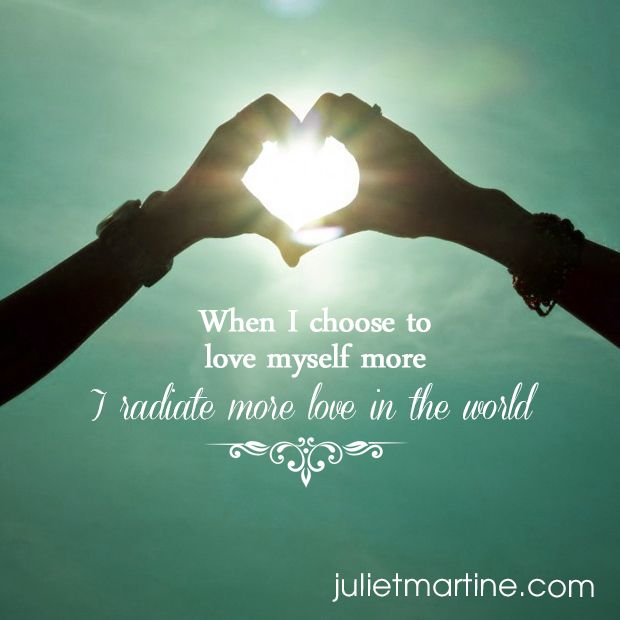 When I choose to love myself more, I radiate more live in the world.  #ManifestationIntelligence