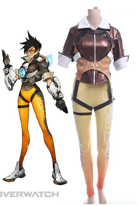 Do you like Overwatch OW Tracer (Lena Oxton) Spandex Suit BodySuit Yellow Version Game Cosplay Costume?
