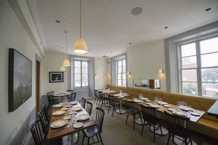 Bibendum Pendants & Coach Wall Lights in New York's Jockey Hollow Restaurant. Winner of Eater.com's best restaurant design.