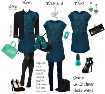 Medium skin tone dress color blue